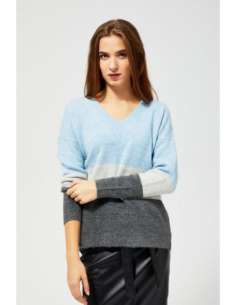Sweter damski w pasy