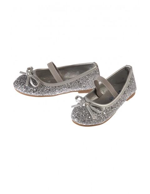 Baleriny dziewczęce srebrne 3Z3513