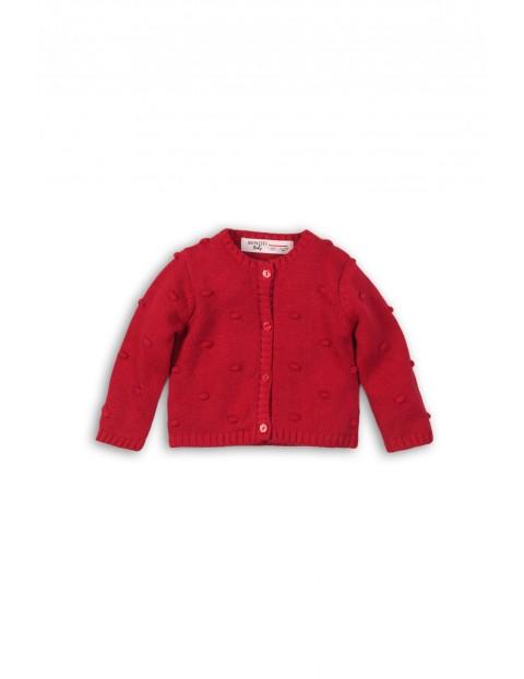 Sweter niemowlęcy czerwony- zapinany na guziki