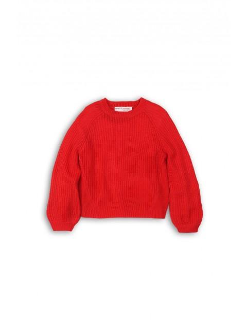 Czerwony sweter dla dziewczynki