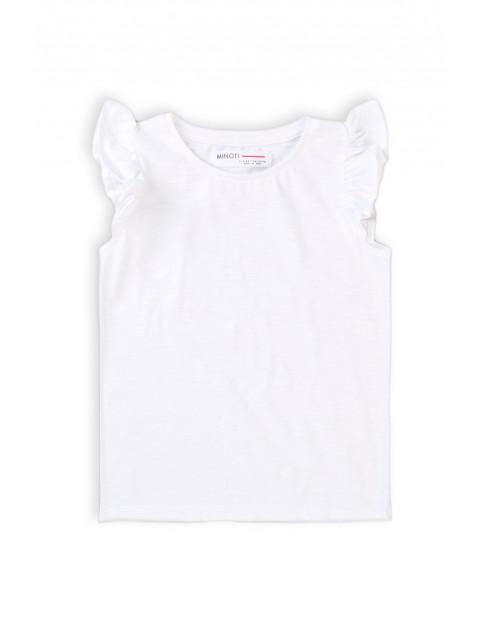 Bawełniana t-shirt niemowlęcy biały