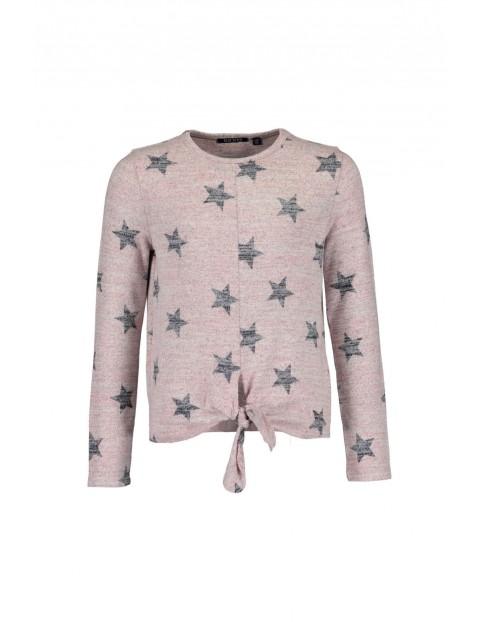 Bluzka dziewczęca różowa w gwiazdki