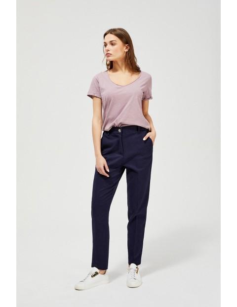 Spodnie damskie  typu chinos - granatowe