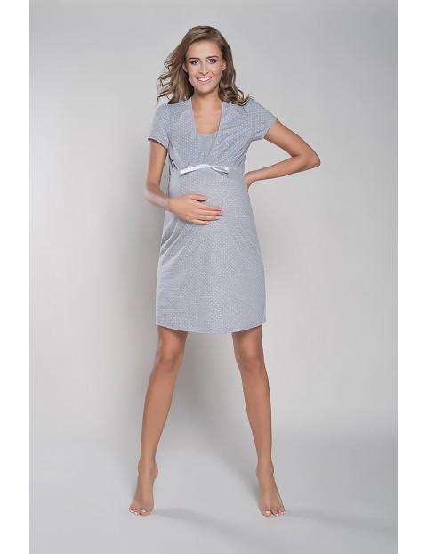 Koszula nocna ciążowa RADOŚĆ krótki rękawek - melanż