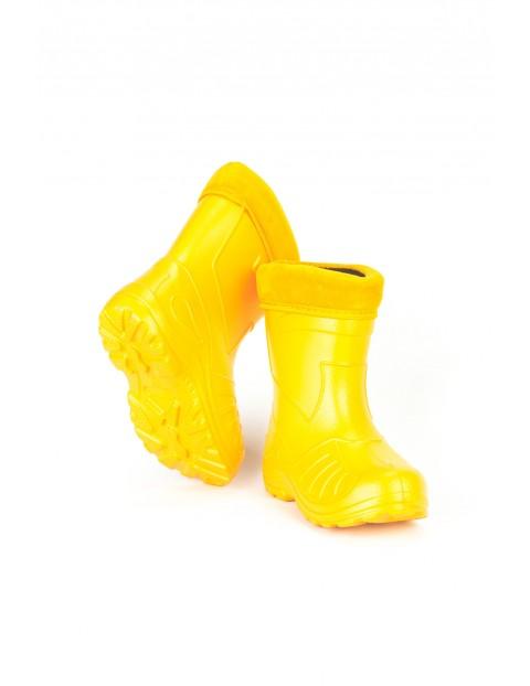 Kalosze dziecięce ocieplane - żółte