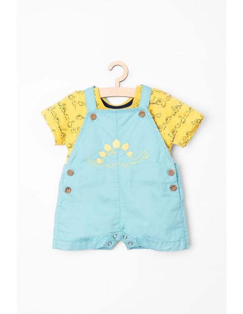 Komplet ubrań dla chłopca- ogrodniczki i t-shirt