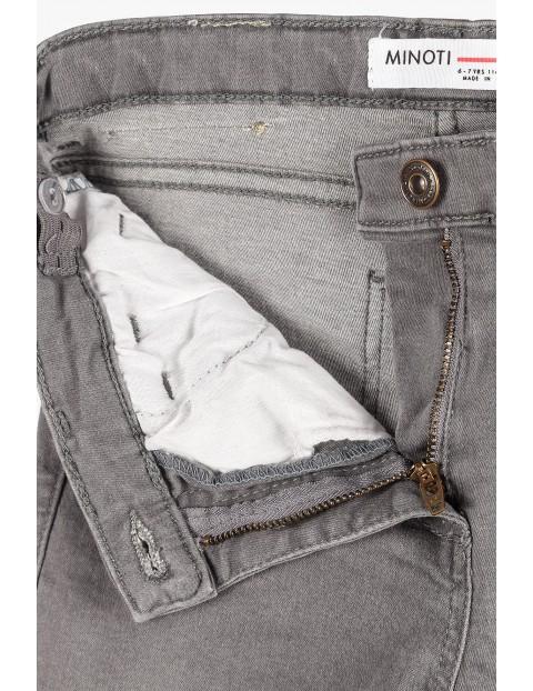 Jeansowe szare spodnie dla dziewczynki