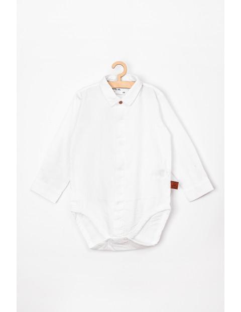 Body niemowlęce białe z kołnierzykiem