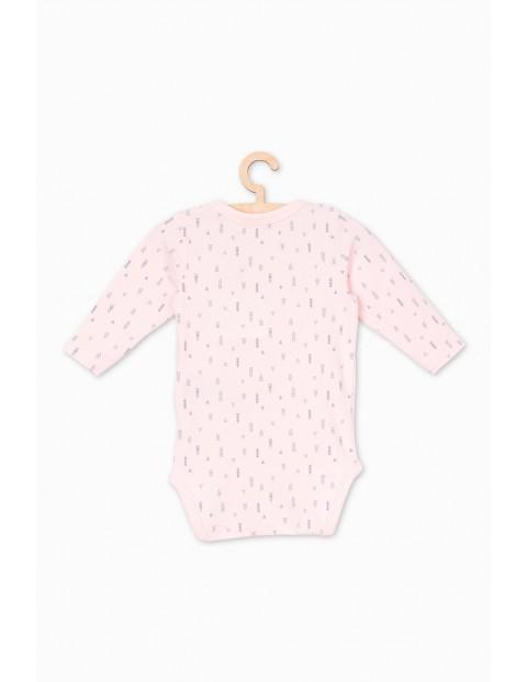 Body kopertowe dla niemowlaka- różowe