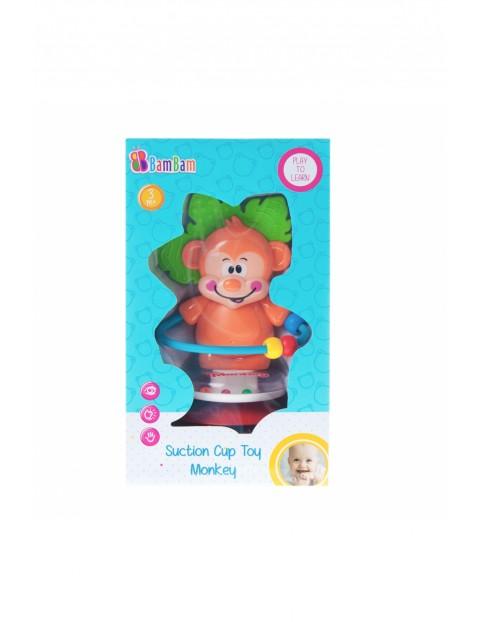 Bam Bam Grzechotka małpka na przyssawkę 3m+