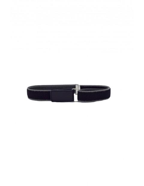 Pasek chłopięcy - czarny 60 cm