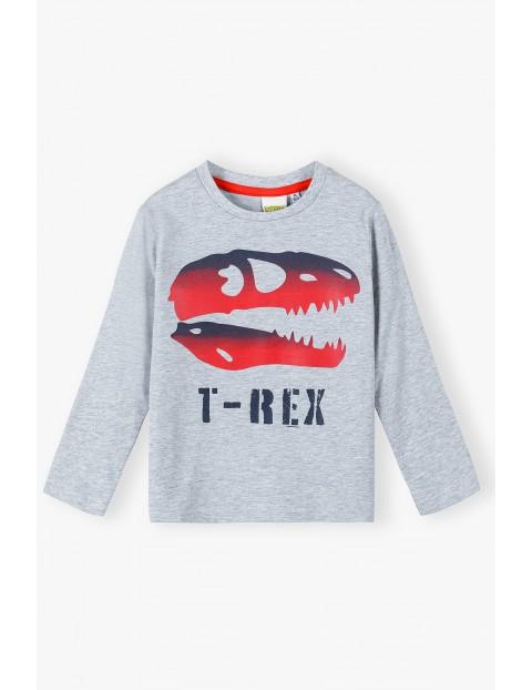 Bluzka chłopięca z długim rękawem T-Rex