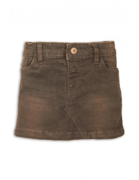 Spódnica jeansowa dziewczęca, brązowa