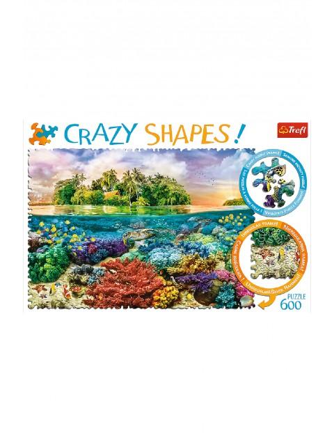 Puzzle Crazy Shapes - Tropikalna wyspa - 600 elementów