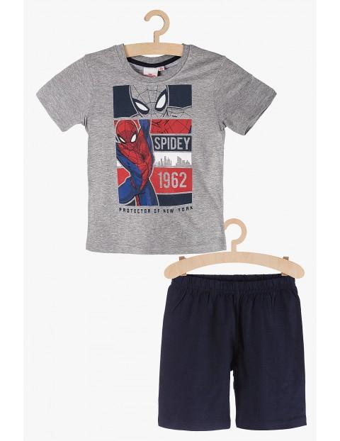 Spiderman- piżama chłopięca  szaro-granatowa rozm 140
