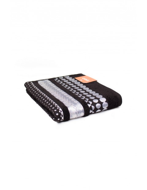 Bawełniany ręcznik w kolorze czarnym 50x90 cm