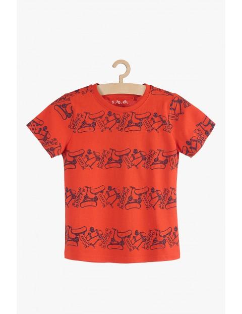 T-shirt czerwony w deskorolki-100% bawełna