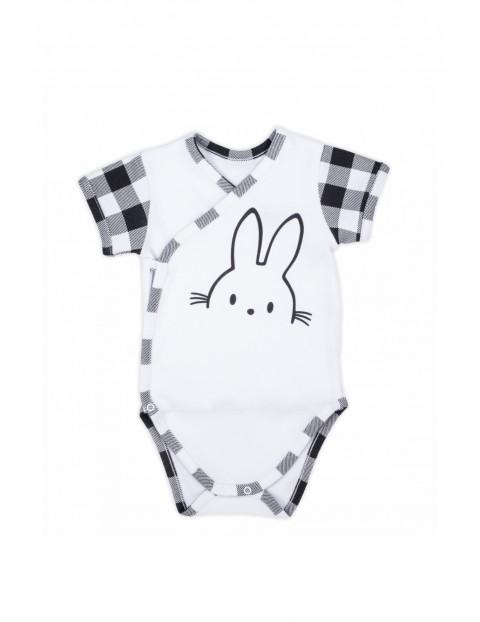Bawełniane body niemowlęce kopertowe