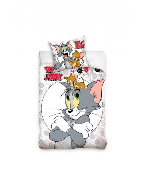 Komplet pościeli bawełnianej Tom and Jerry 140x200+70x90 cm