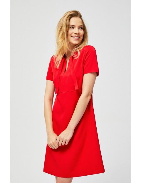 Sukienka damska czerwona- mini