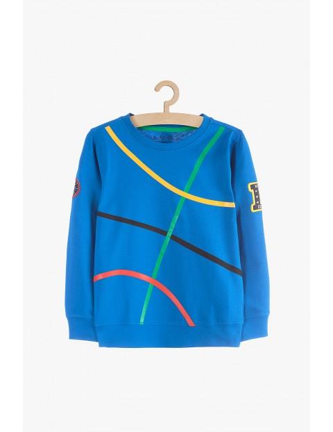 Bluzka chłopięca dresowa- niebieska