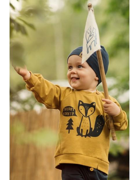 Bluza niemowlęca dresowa Secret Forest curry