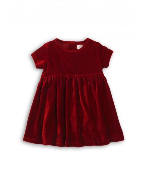 Sukienka niemowlęca- bordowa