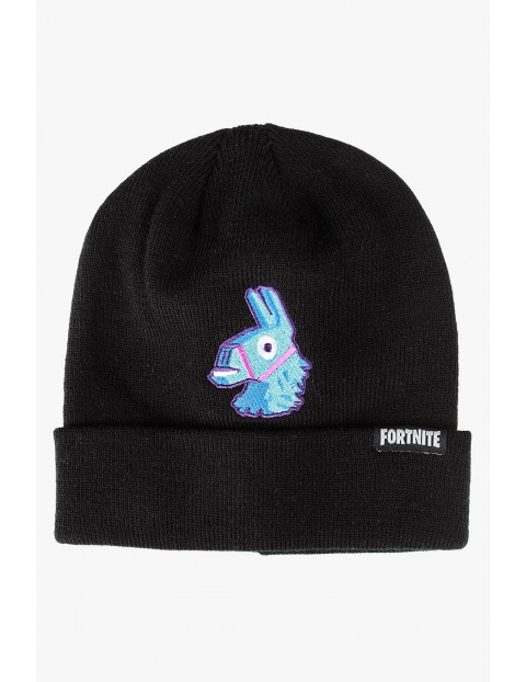 Czarna czapka Fortnite