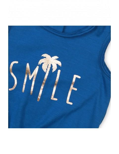 Kombinezon niemowlęcy z napisem- Smile