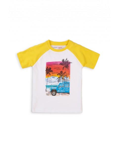 Bawełniany T-shirt niemowlęcy z nadrukiem