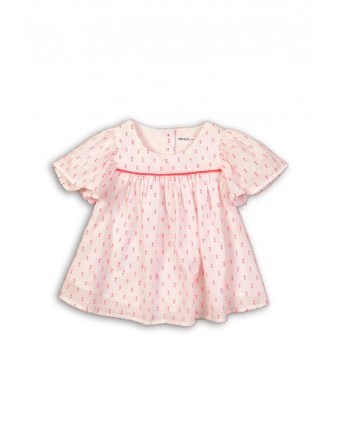 Biało-różowa bluzka dziewczęca rozm 92/98