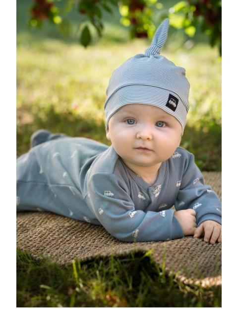 Czapka niemowlęca bawełniana Little Car