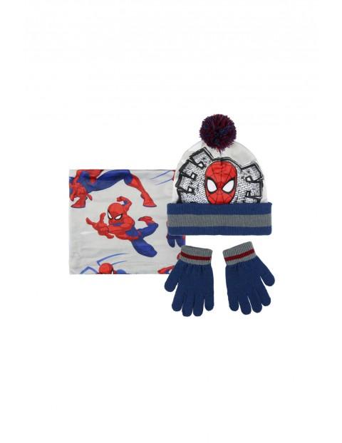 Spiderman czapka, szalik, rękawice1X35BC