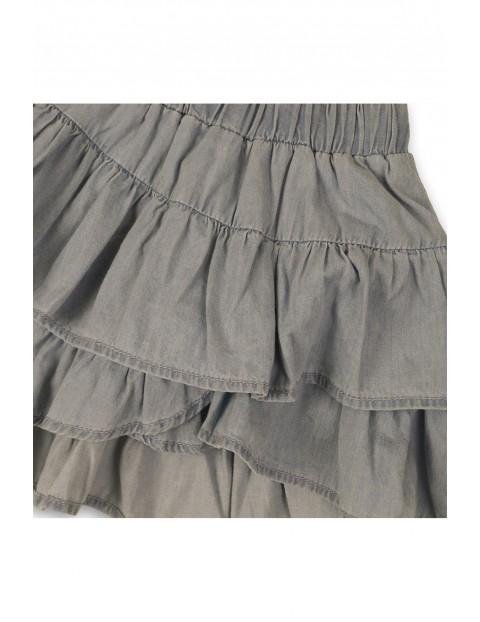 Spódnica dziewczęca szara z kontrafałdami