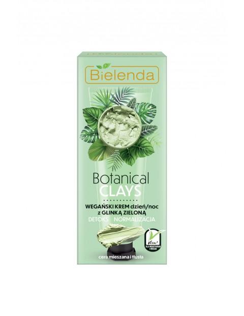 BOTANICAL CLAYS Wegański krem z glinką zieloną dzień/ noc Bielenda - 50 ml