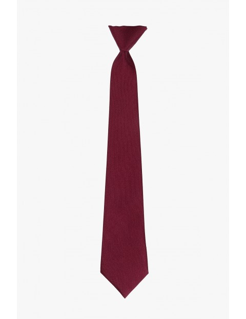 Krawat dla chłopca- bordowy