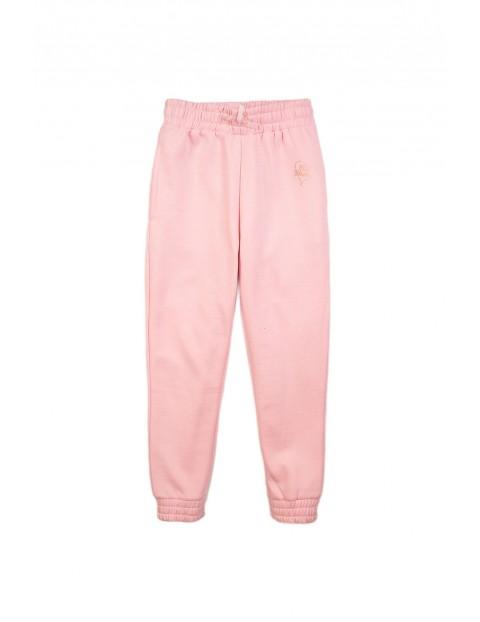 Dresowe spodnie dziewczęce - różowe