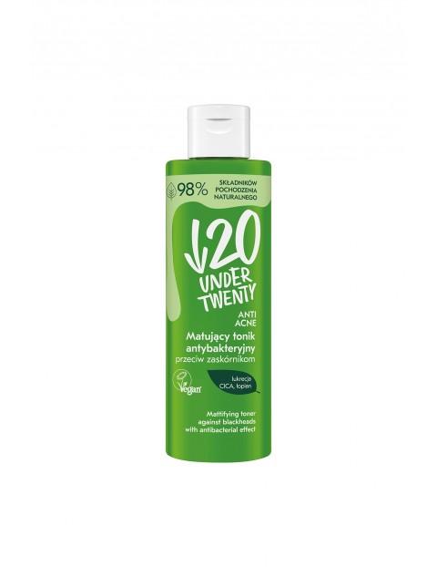 Under Twenty Anti Acne Matujący tonik antybakteryjny przeciw zaskórnikom 200 ml