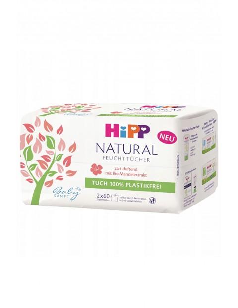 Chusteczki pielęgnacyjne HiPP Babysanft Natural Soft, 2x60 szt.