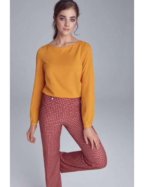 Żółta bluzka damska z bufiastymi rękawami