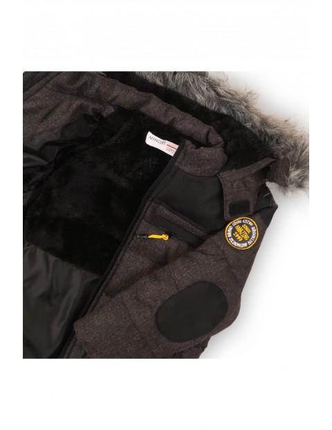 Kurtka na zimę- szara z czarnymi wstawkami
