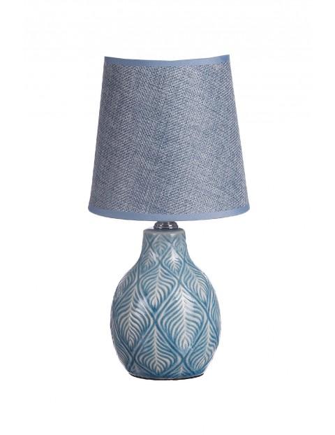 Lampa z ceramiczną podstawą- niebieska