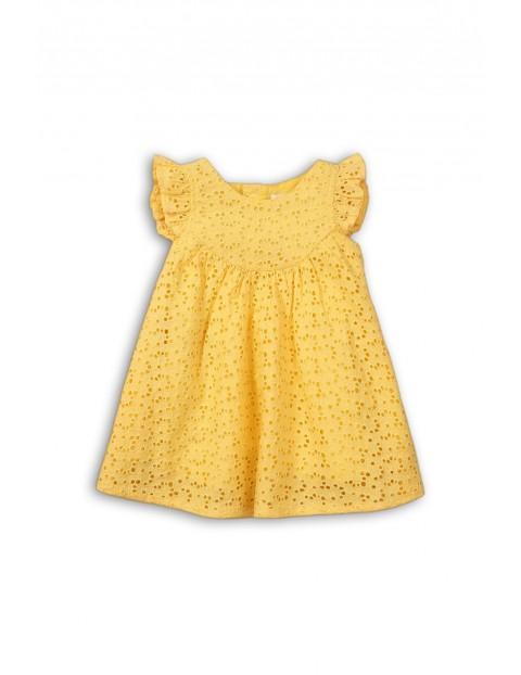 Sukienka niemowlęca na lato-żółta