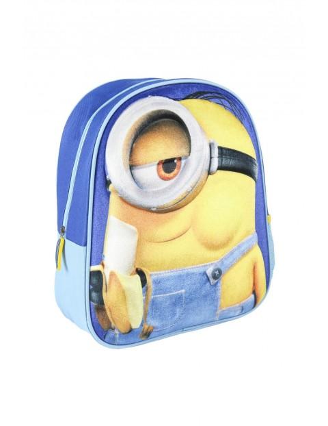 Plecak 3D premium - imitacja zamszu- Minionki