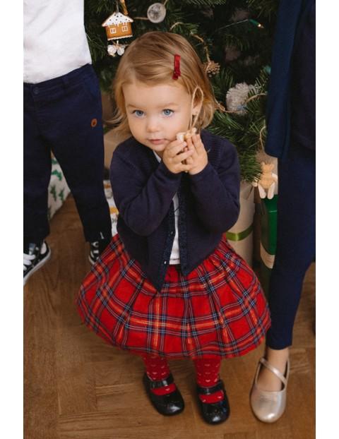 Czerwona świąteczna spódnica w kratę