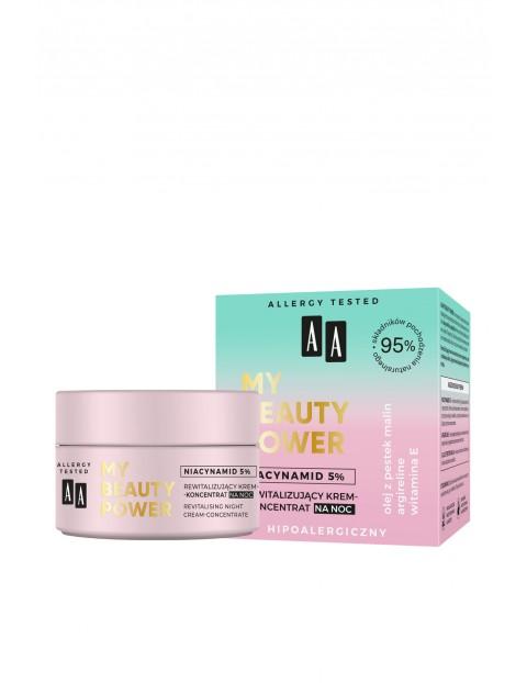 AA My Beauty Power Niacynamid 5% rewitalizujący krem-koncentrat na noc 50 ml