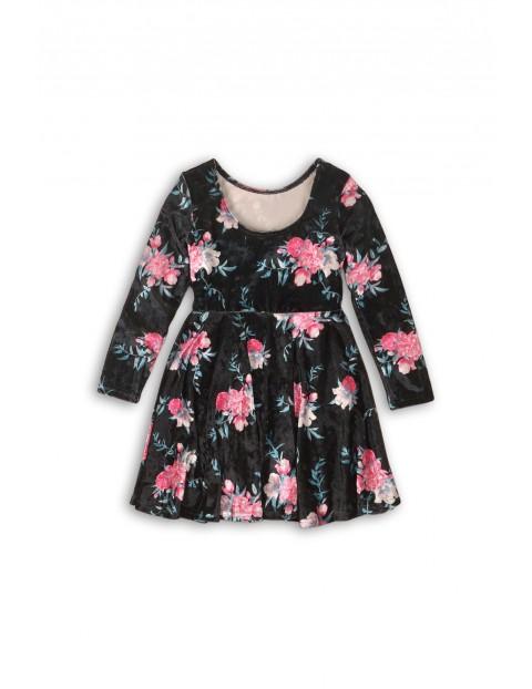 Sukienka dziewczęca w kwiatki