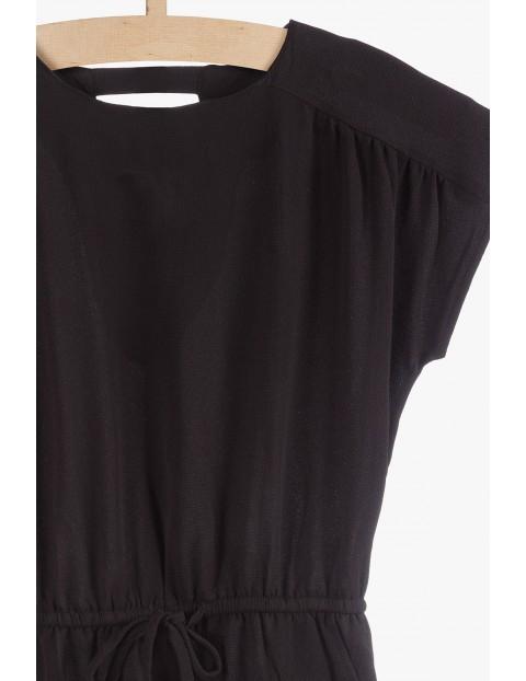 Sukienka damska z krótkimi rękawami-czarna