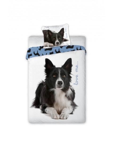 Pościel bawełniana Pies Love Me 140x200+70x80cm