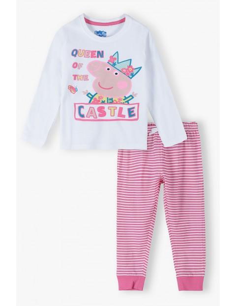 Bawełniana piżama dziewczęca Świnka Peppa